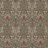 William Morris Snakeshead Charcoal/Spice