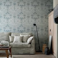 William Morris Pure Honeysuckle & Tulip Cloud Grey