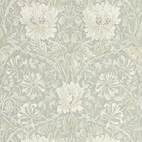 William Morris Pure Honeysuckle & Tulip Grey Blue